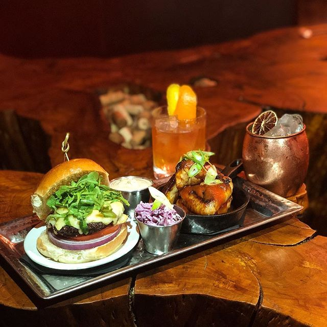 Still looking for plans for Memorial Day? We got the deal to end all deals; 6 oz burger, #miltoncreamery prairie breeze cheddar, lettuce, tomato, onion, arugula and special sauce with Seamstress smoked house made BBQ wings, Coleslaw and a choice of Bourbon Old Fashioned or @Spring44 Moscow Mule for $28 all day Monday, BOOM! We will see you on Monday!!!