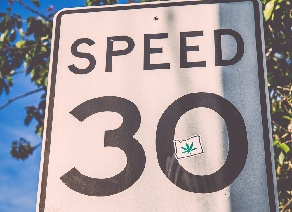 Marijuana street sign