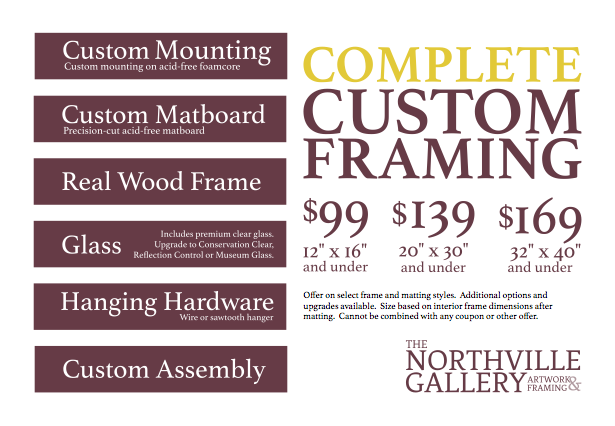 Framing Packages — The Northville Gallery