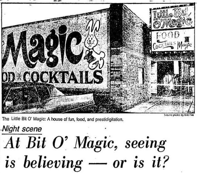 Little Bit O' Magic had a little bit o' everything.; bar magic, table hopping magic, and stage acts.