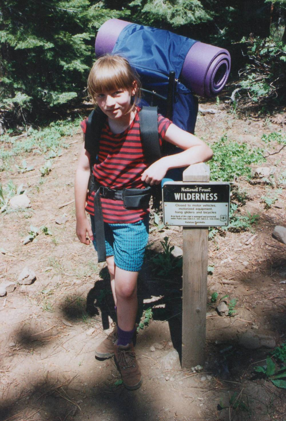 Early days of backpacking with my dad.