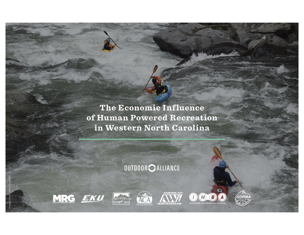 Learn more about the economic influence of outdoor recreation in the Nantahala and Pisgah National Forests by clicking on the image above.