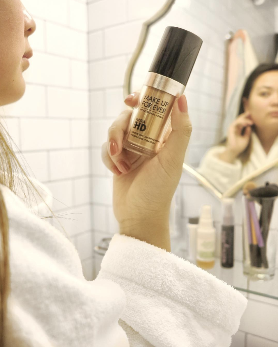 getting ready for the day - foundation: Make Up Forever HD Foundation (AD)
