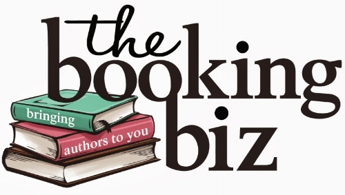 The Booking Biz logo referenced in talk (Photo credit: Taylor Gonzales)