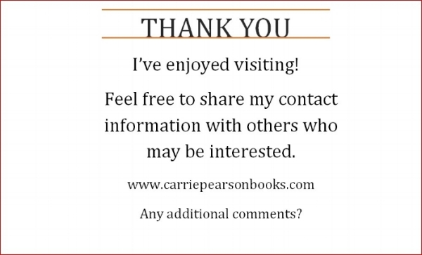 Carrie's Gratitude Card