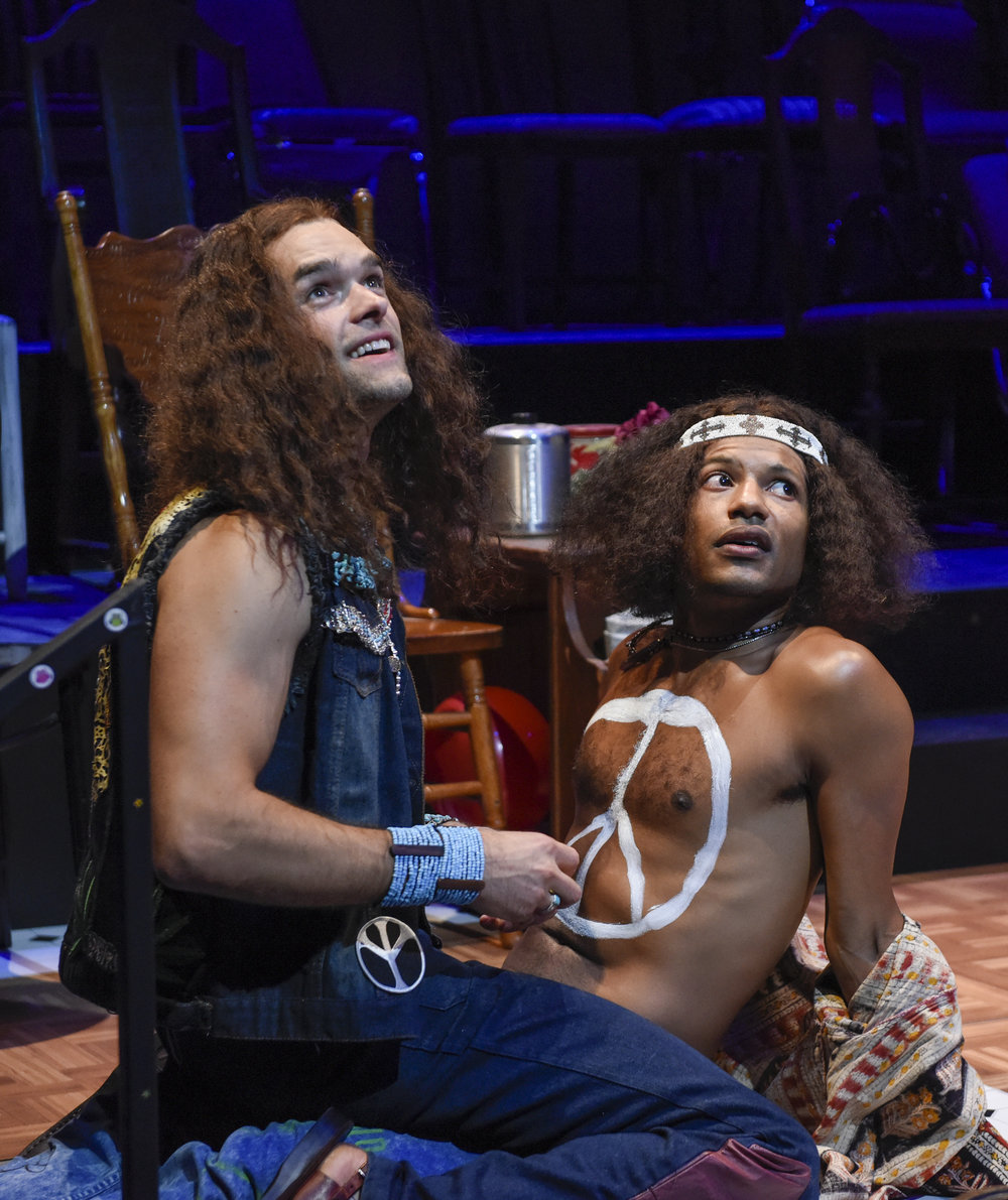 Chris Peluso and Jaime Cepero in DTC's Hair - Photo by Karen Almond.jpg