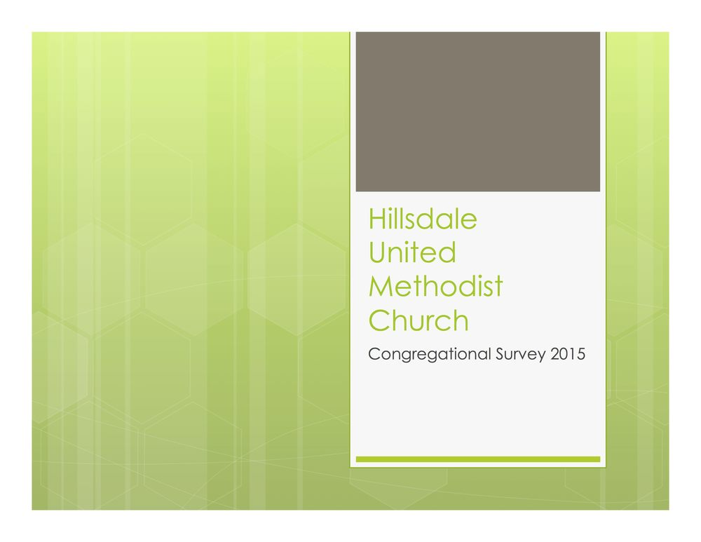 Click here to download the 2015 Survey Presentation, and contact Pastor Brian for more information.