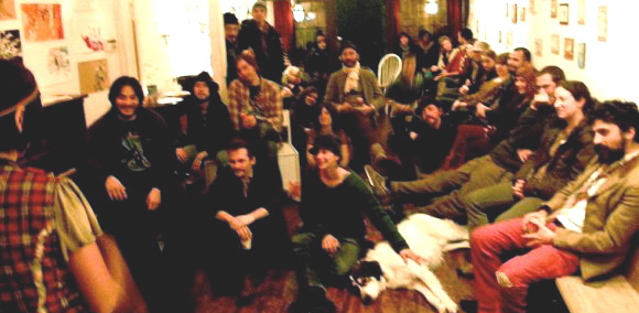 Art Music Tea Party. Blue6. San Francisco CA December 17 2008