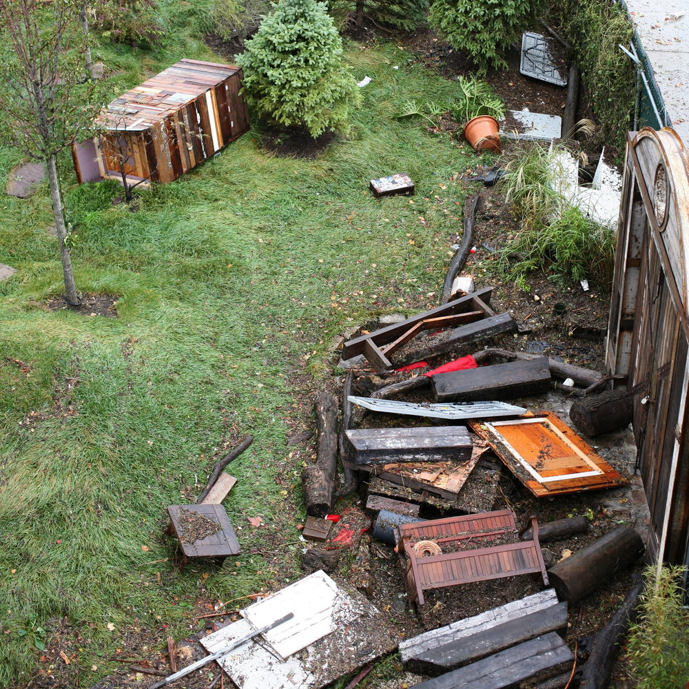 Yawning Booth destroyed by hurricane Sandy