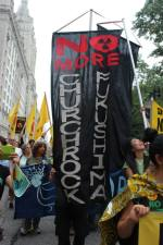 One of the many Fukushima banners at the People's Climate March on 9.21.14