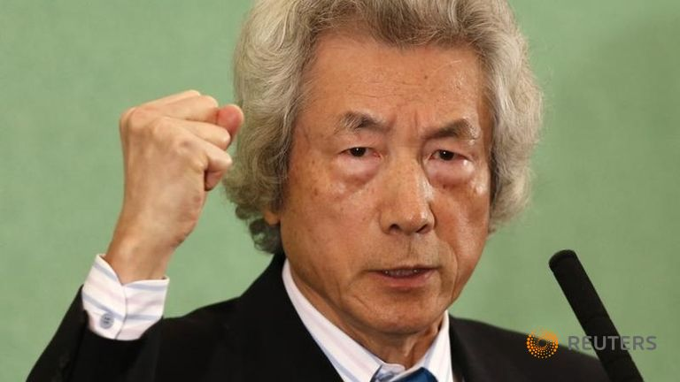 Japan's former Prime Minister Junichiro Koizumi speaks at the Japan National Press Club in Tokyo November 12, 2013. Koizumi publicly called for an end to Japan's use of nuclear power on Tuesday. REUTERS/Toru Hanai