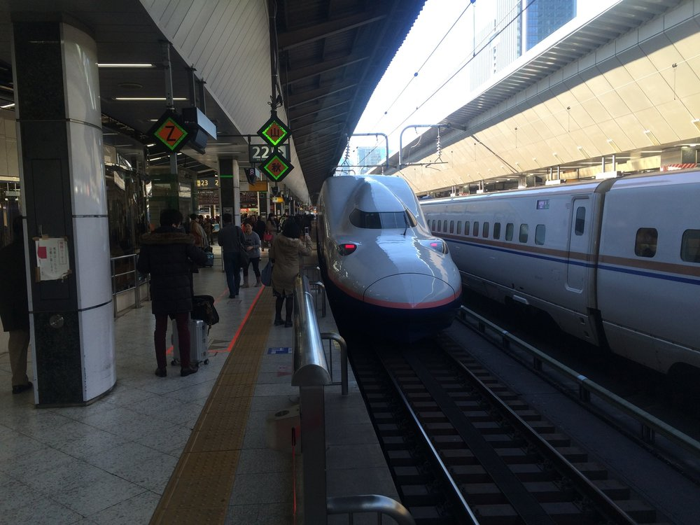 Bullet Train180mph quiet fast smooth and on time