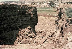 The collapse of the Church Rock Spill. Photo Source: Wikimedia