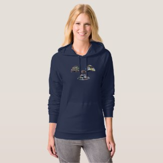 Ladies' Radiation Symbol Hoodie