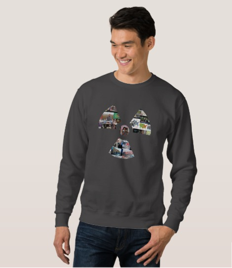 Men's Dark Grey Radiation Symbol Sweatshirt