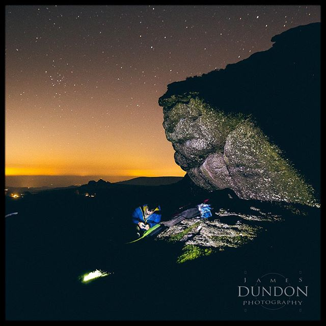 Another image from Tuesday night. Honeybag tor.  #bouldering #dartmoor #astro