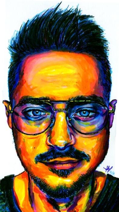 'XXIII Selfie' of Igor drawn with Prisma markers only