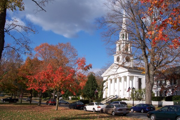 Congregational Church, New Milford green