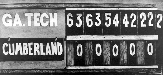 A photo of the scoreboard via  wikipedia