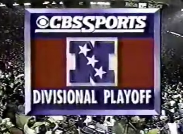 a screenshot from the  1991 divisional playoffs