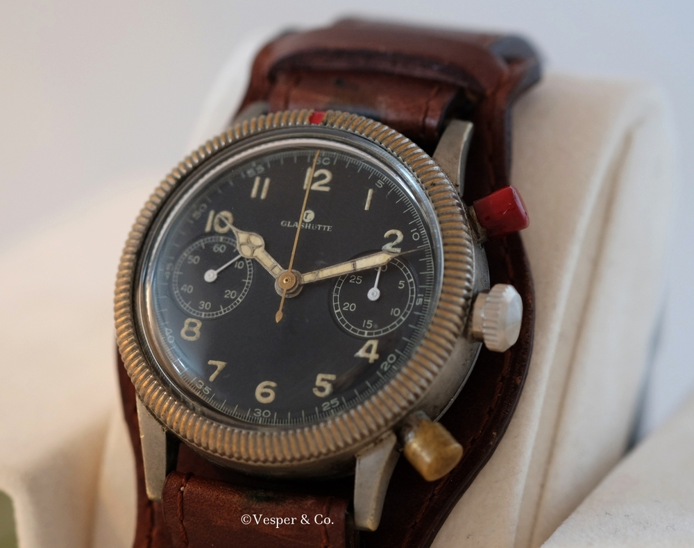 glashutte chronograph german airforce luftwaffe
