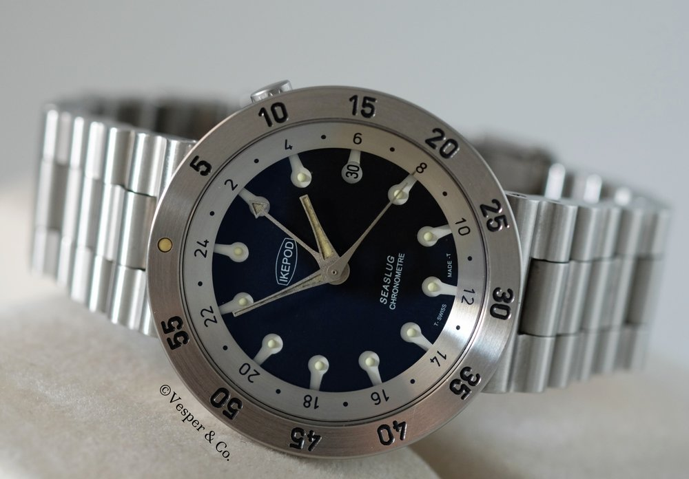 Ikepod Seaslug GMT Steel   SOLD
