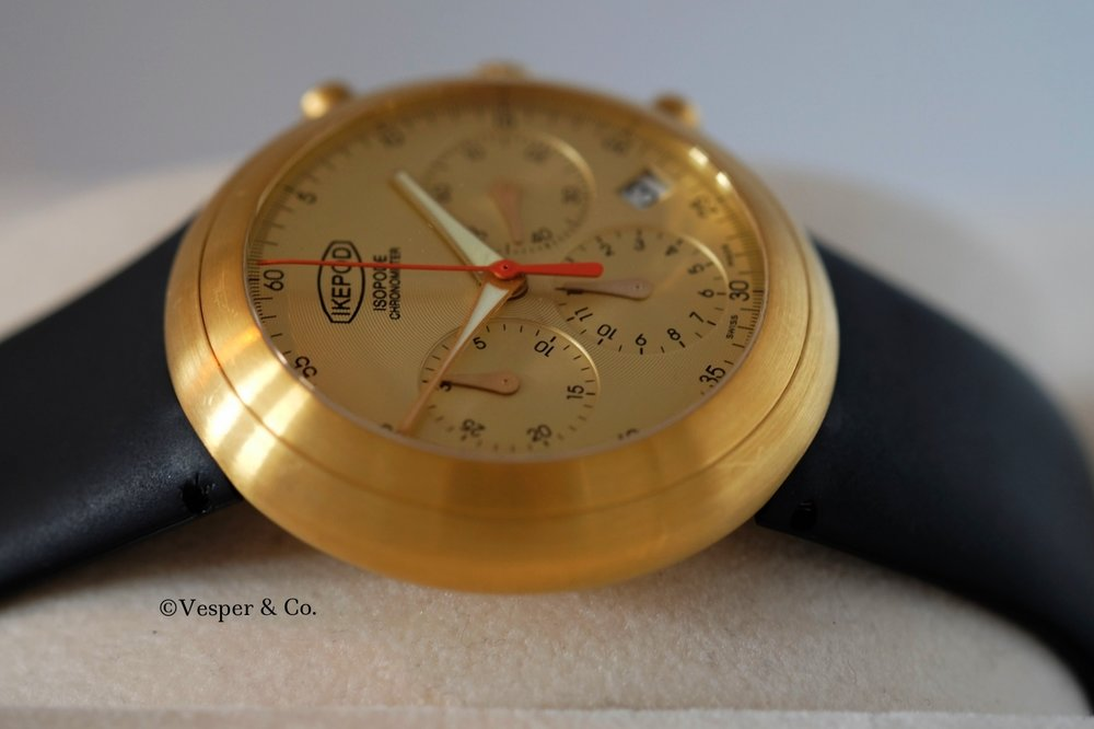 Ikepod Isopode Chronograph Gold   SOLD