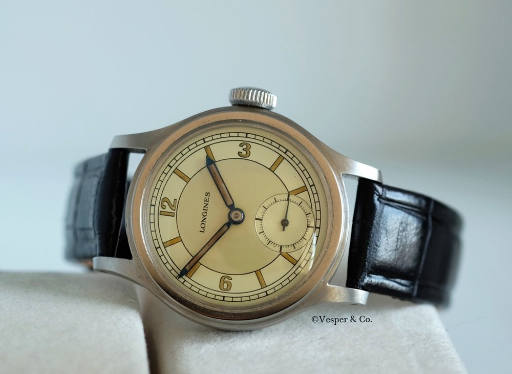 Longines Calatrava two Tone dial Circa 1940's SOLD