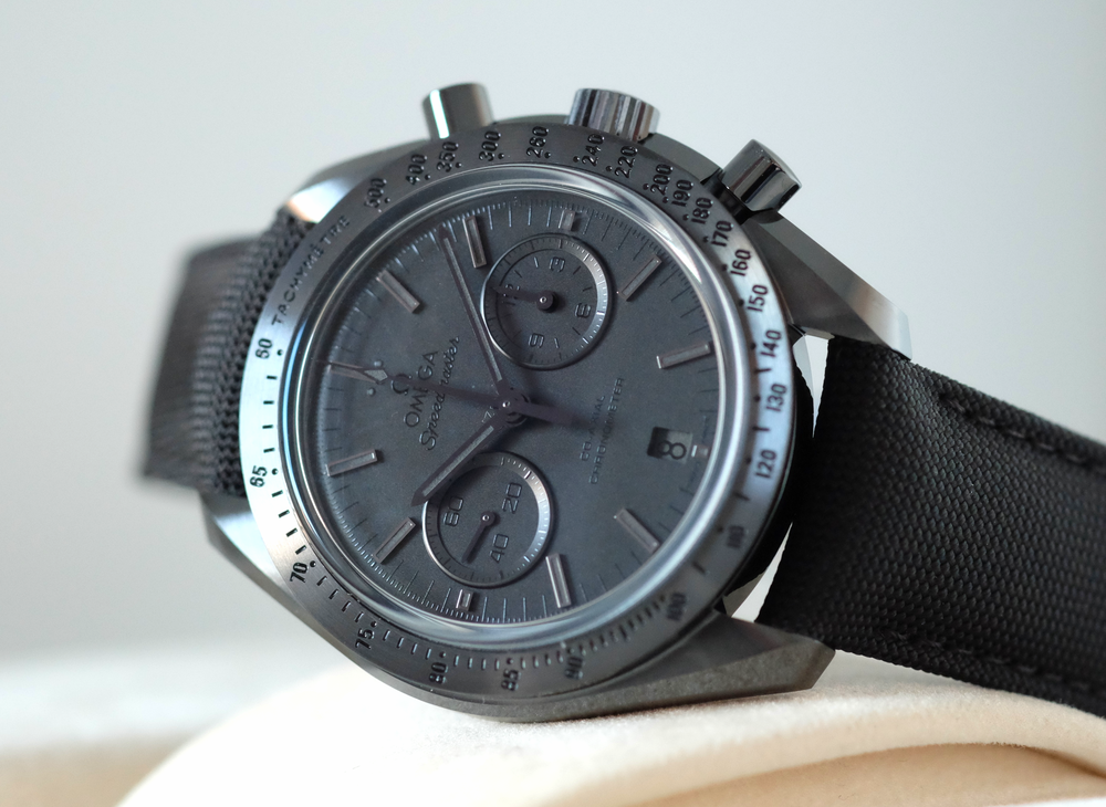"Speedmaster 'Dark Side of the Moon"" Black Black   SOLD"