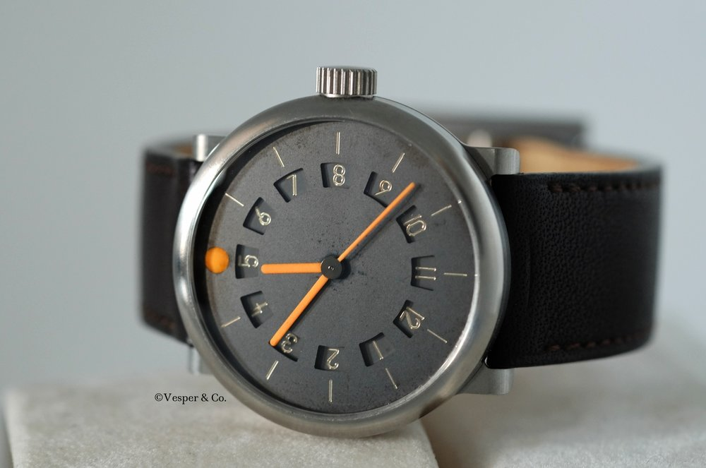 Due Ore Idea Dual Timezone Titanium 39mm   SOLD