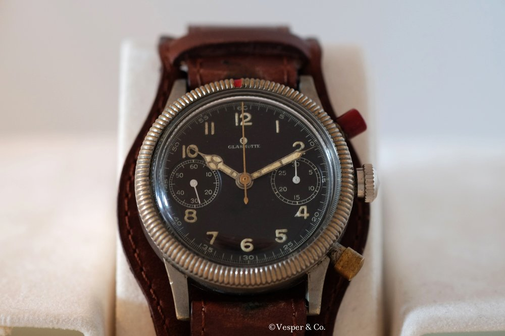 Glashütte Chronograph Military   SOLD