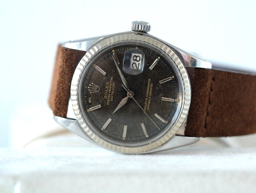 "Rolex Oyster Datejust ""Tropical"" Ref. 1603   SOLD"