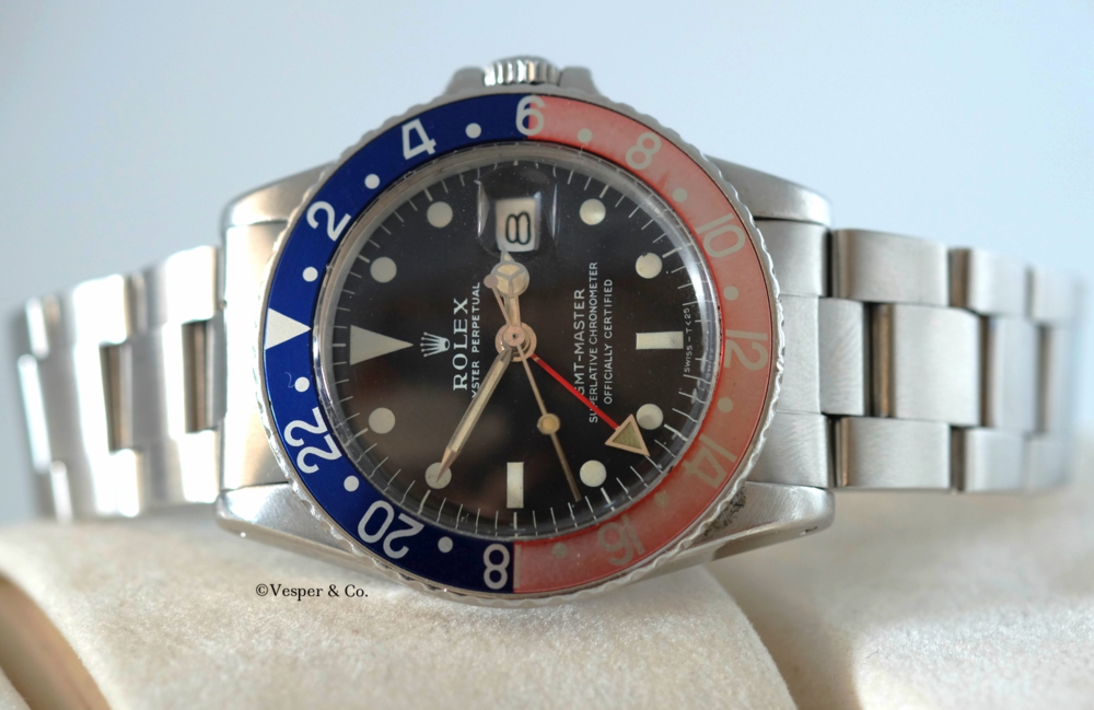 "Rolex GMT Steel ""Tropical"" Ref. 1675   SOLD"