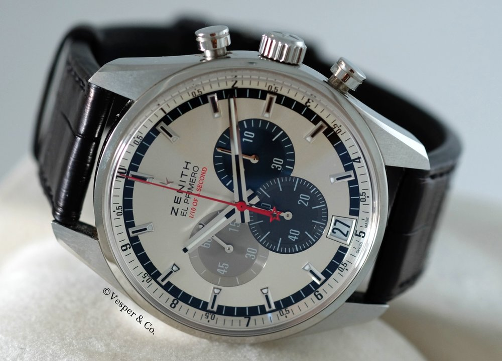 Zenith El Primero Striking Tenth Chronograph   SOLD