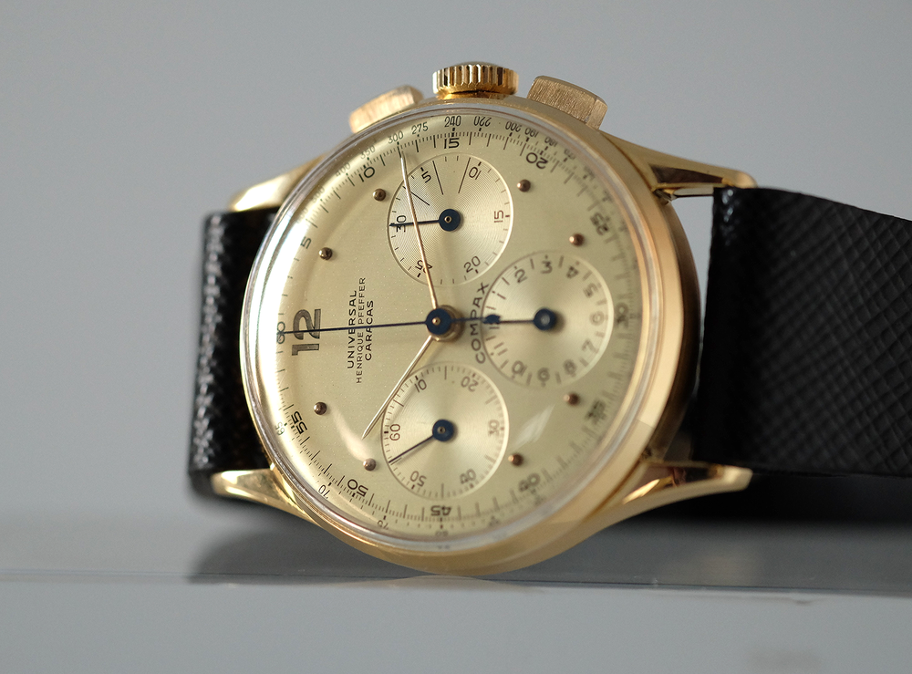 Compax Chronograph Gold Henrique Pfeffer    SOLD