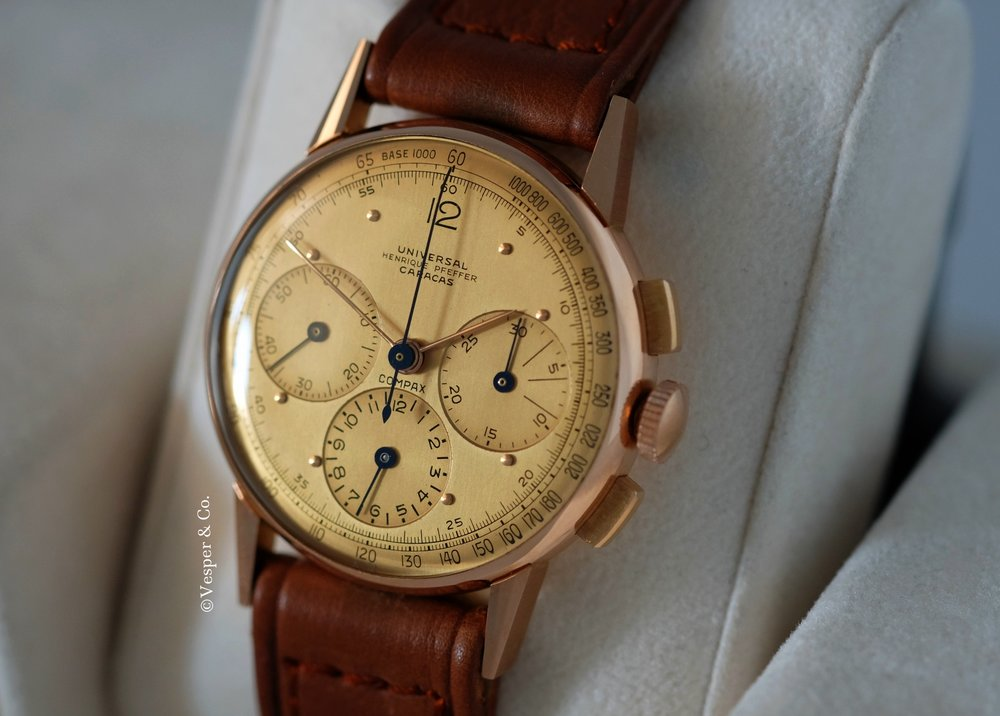 Compax Chronograph Pink Gold Henrique Pfeffer   SOLD