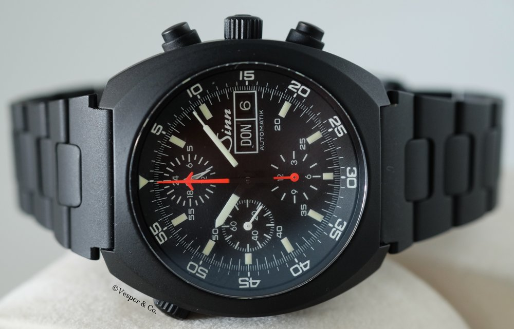Sinn Chronograph Day Date Black Ref 142   SOLD