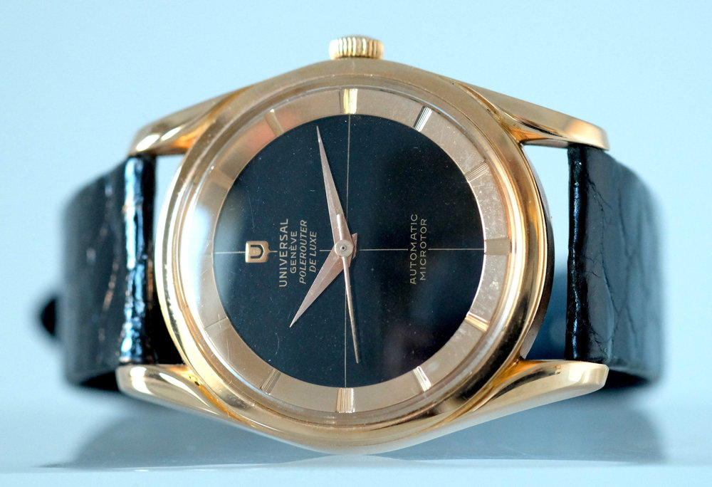 Universal Geneve Polerouter de Luxe rose gold   SOLD
