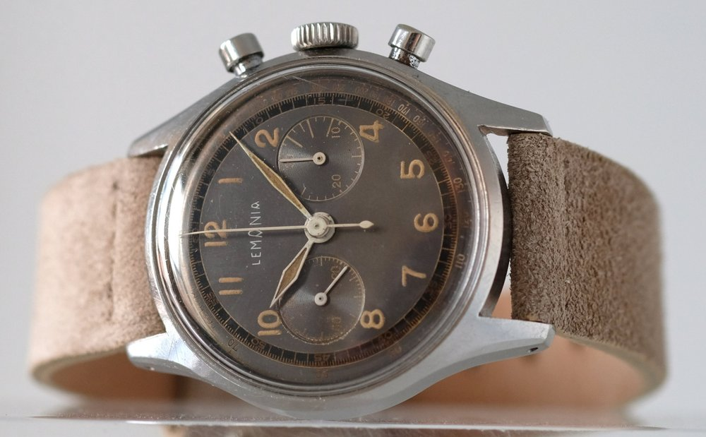 Lemania Chronograph w/ Radium SOLD