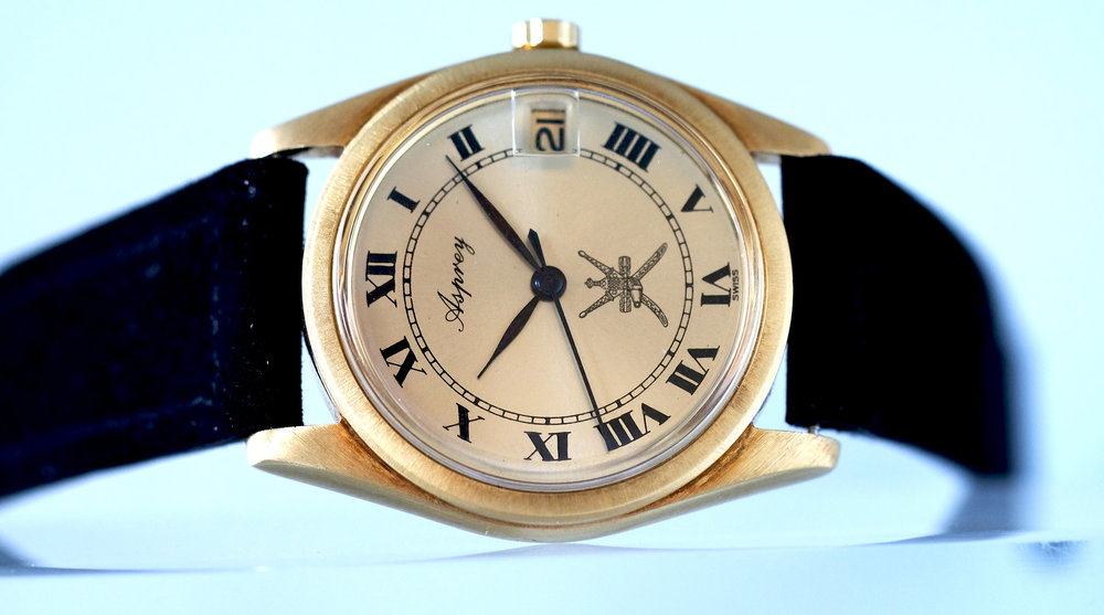 Asprey gold watch w/Oman Khanjar Price: $4,950