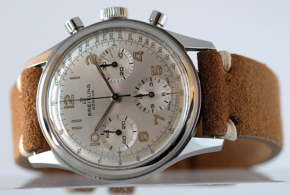 Breitling Chronograph Silver dial Ref 765   SOLD