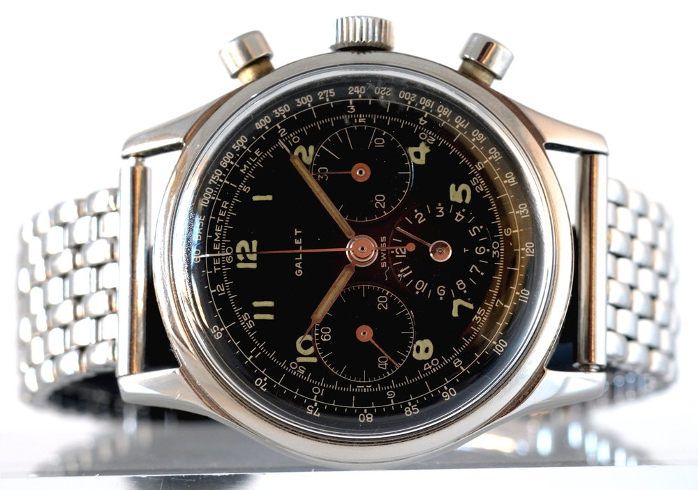 Gallet Multi-Chron  Jim Clark Chronograph   SOLD