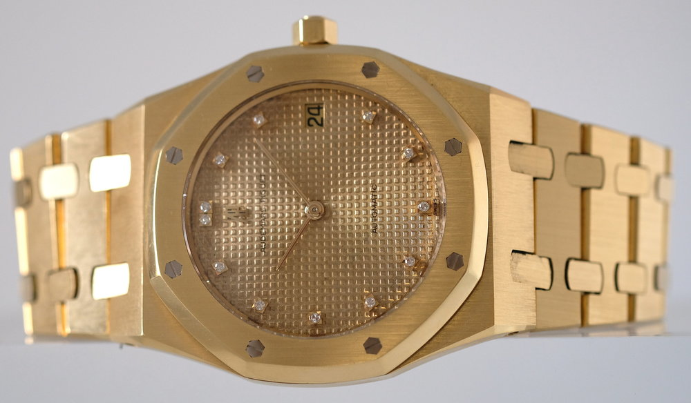 Audemars Piguet Gold Royal Oak Jumbo w/ Diamonds   SOLD