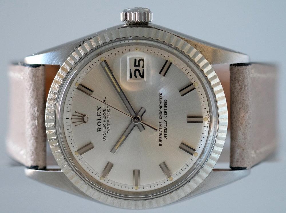 """Rolex Datejust """"Wide Boy"""" Ref. 1601  Price: $3,745"""