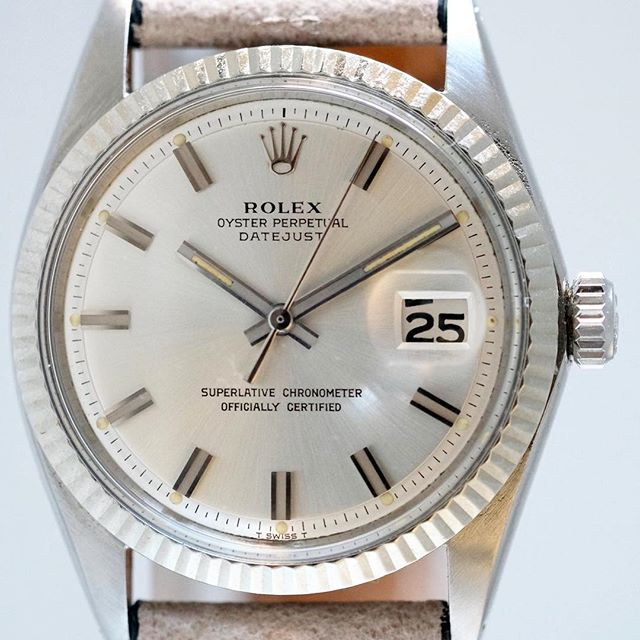 "Rolex Datejust ""Wide Boy"" from the 60's  #rolex #wideboy #datejust"
