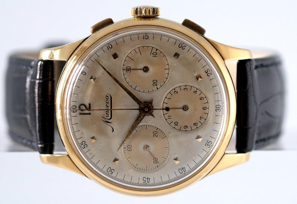 Minerva 18kt Gold Chronograph  Price: $3,450