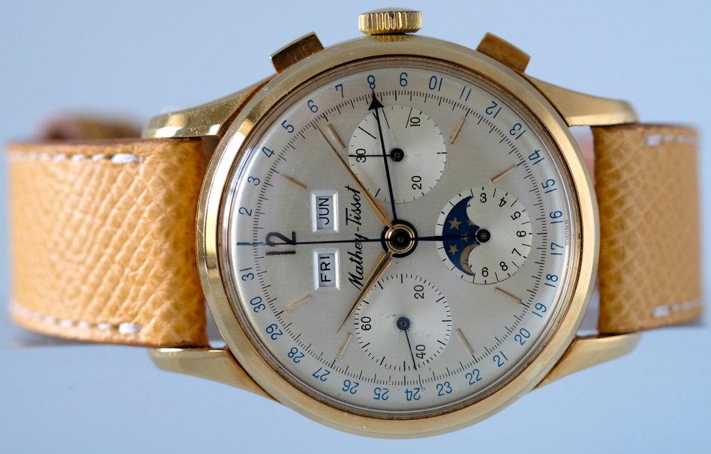 Mathey Tissot Triple Calendar Chronograph  Price: $8,950