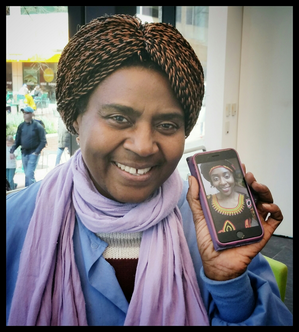 Alice is a native of Cameroon. She is a nurse living in Silver Spring, Maryland. Here she shows photo of her 20 year old daughter, Clara, a pre-med student at University of Maryland.
