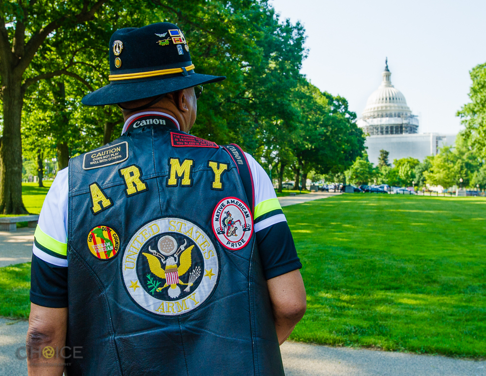 "Aaron Thorn, Jr., 67, U.S. Army from 1968-1988 at America's Vets Helping Vets For Life ""March 4 Veterans Rights."" Rally, May 28, 2016 Washington, D.C.(Rodney Choice/Choice Photography/www.choicephotography.com)"