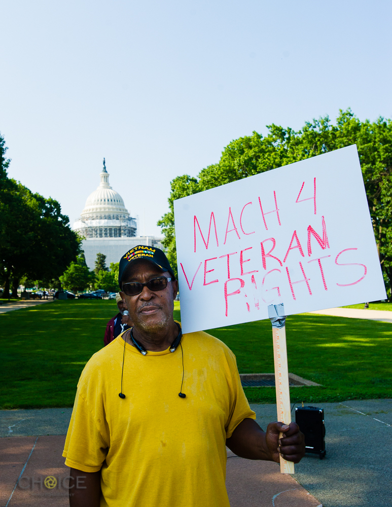 "Robert Brock, 68, U.S. Army Veteran, served in Vietnam in 1967-1968. America's Vets Helping Vets For Life ""March 4 Veterans Rights."" Rally, May 28, 2016 Washington, D.C.(Rodney Choice/Choice Photography/www.choicephotography.com)"